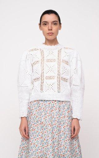 Corinne Crocheted Cotton Sweater