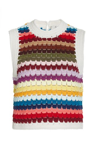 Ziggy Crocheted Cotton Vest