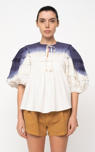 Everlyn Puff Sleeve Cotton Top
