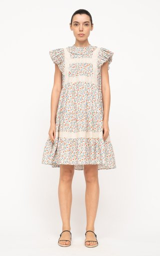 Bubbie Floral-Printed Tiered Cotton Tunic