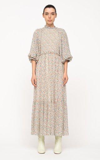 Bubbie Floral-Printed Cotton Maxi Dress