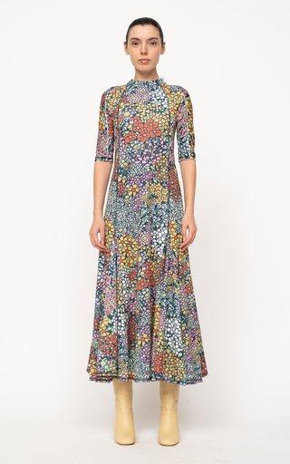 Enora Floral-Printed Jersey Maxi Dress