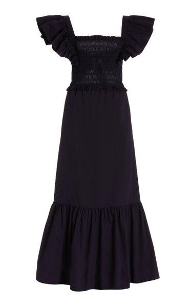 Gladys Hand-Smocked Cotton Maxi Dress