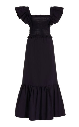 Gladys Hand-Smocked Cotton Maxi Dress