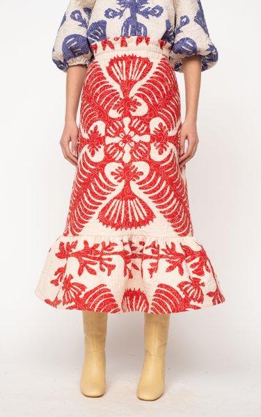 Henrietta Printed Cotton Skirt