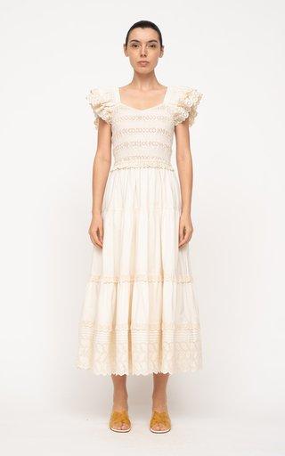Everleigh Eyelet Smocked Cotton Dress
