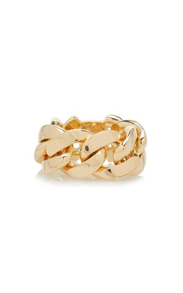 18K Gold-Plated Chain Ring