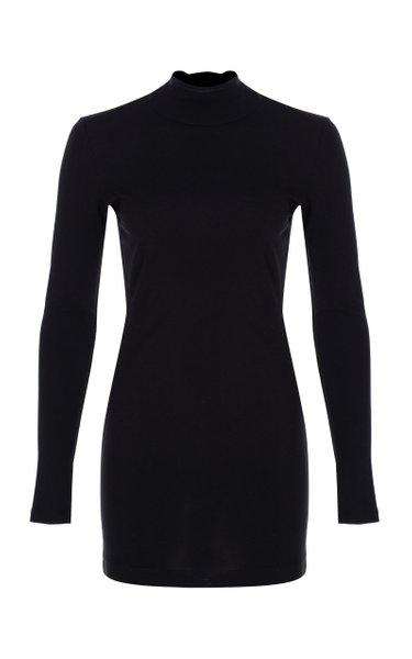 Open-Back Jersey Mini Dress