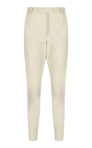 Mom Leather Straight-Leg Pants