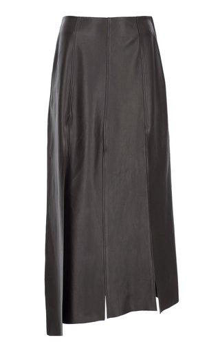 Eight Slit Leather Skirt