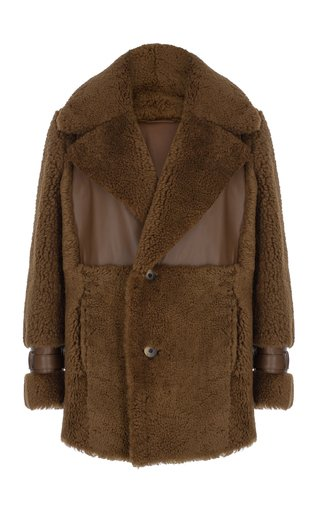 Icelandic Leather-Trimmed Shearling Jacket
