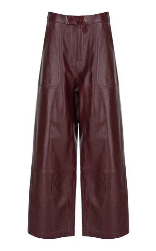 Leather Culotte Pants