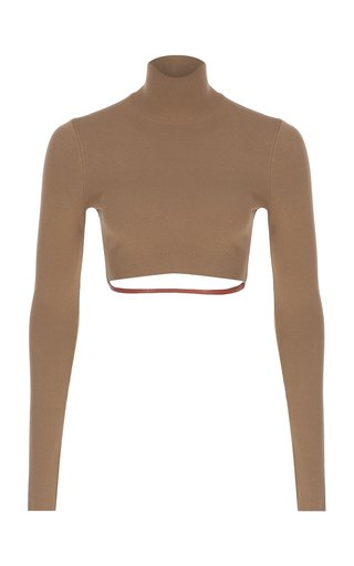 Belted Knit Crop Top