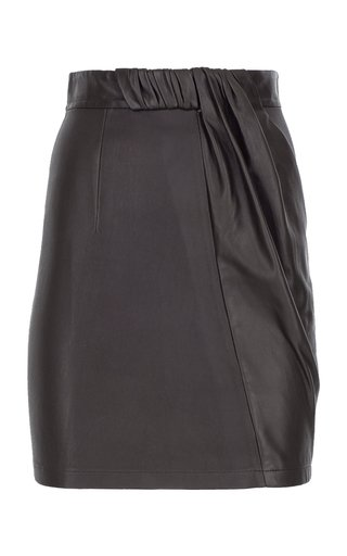 Stretch Leather Mini Skirt