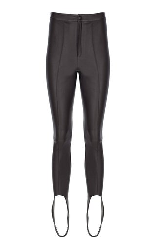 Leather Skinny Stirrup Pants