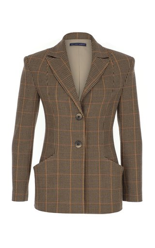 Checkered Wool Jacket