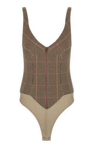 Checkered Wool Bodysuit