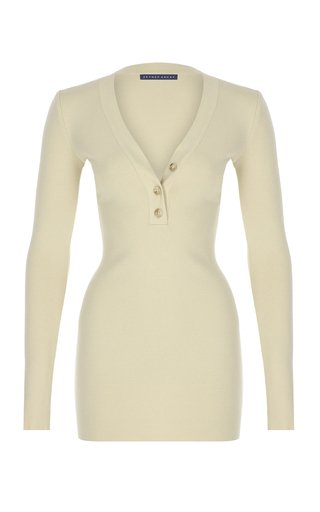 Long Sleeve Knit Mini Dress