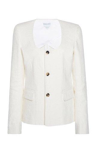 Stretch Linen Canvas Jacket
