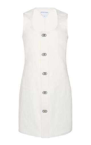 Stretch Linen Canvas Dress