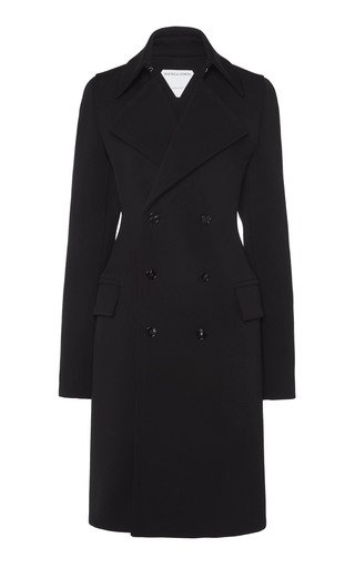 Double-Breasted Calvary Wool Coat