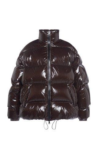 Shiny Lightweight Nylon Puffer Coat