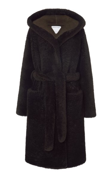 Hooded Teddy Shearling Coat