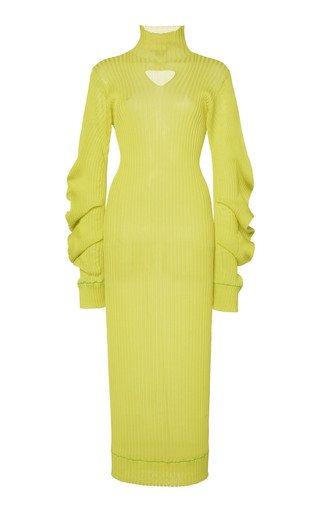 Lightweight Spirals Knit Midi Dress