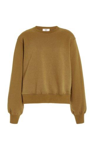 Vanessa Padded-Shoulder Organic Cotton Sweatshirt