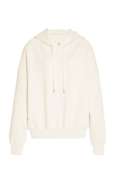 Vanessa Padded-Shoulder Organic Cotton Hoodie