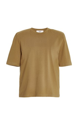 Carrington Padded-Shoulder Organic Cotton T-Shirt
