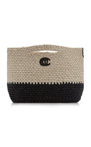 Christy Crocheted Raffia Tote Bag