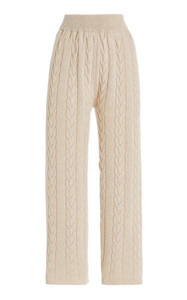 Jules Cable-Knit Wool-Blend Lounge Pants