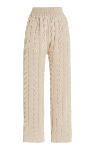 Jules Cable-Knit Wool-Blend Lounge Pants