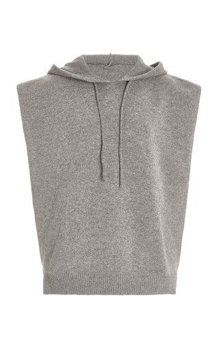 Juno Sleeveless Wool-Blend Knit Hoodie