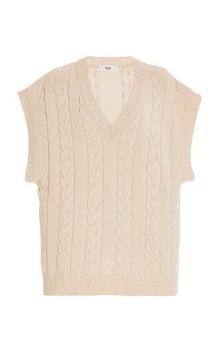 Jules Cable-Knit Wool-Blend Sweater Vest