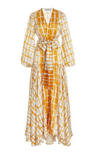 Connie Striped Silk Maxi Dress
