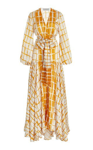 Connie Striped Silk Maxi Dress