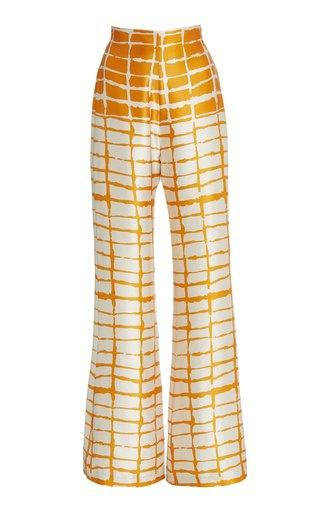 Como Striped Silk Wide-Leg Pants