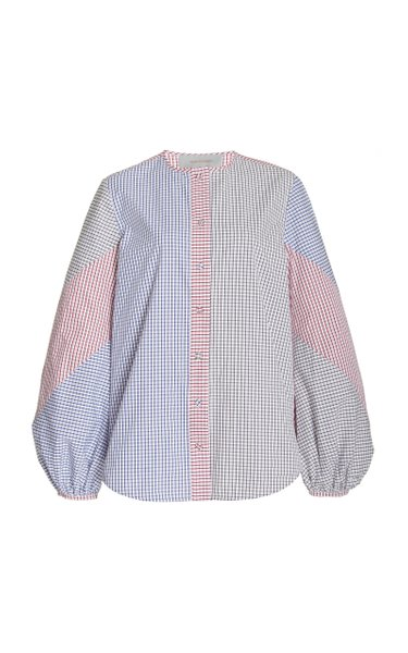 Filia Patchwork Checked Cotton Top