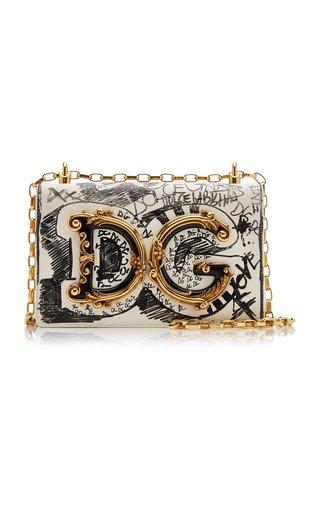 DG Girls Printed Leather Shoulder Bag