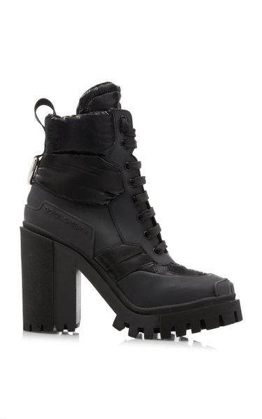 Nylon-Trimmed Rubber Hiking Boots