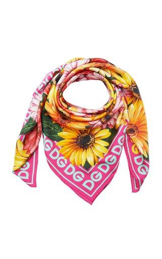 Gerbera Printed Silk Twill Foulard