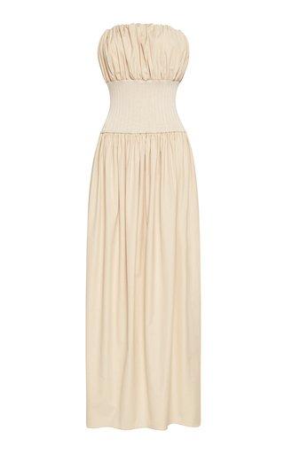 Strapless Cotton Maxi Dress