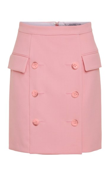 Refreshing Ambition Crepe Mini Skirt
