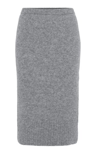 Soft Flash Alpaca-Blend Skirt