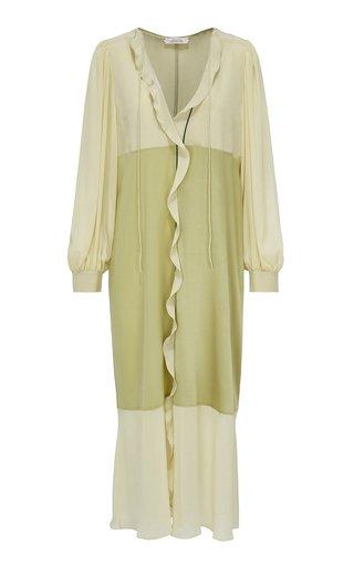 Fluid Volumes Ruffle-Detailed Silk Dress