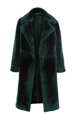 Open-Front Shearling Coat