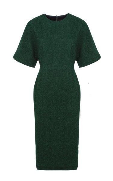 Batwing Cotton-Blend Midi Dress