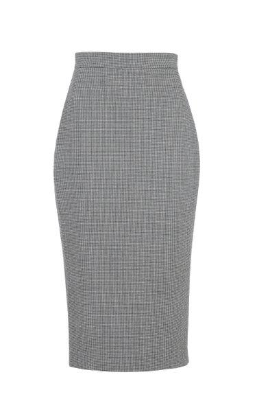 Virgin Wool-Blend Pencil Skirt